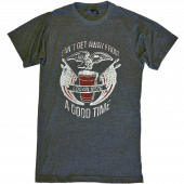 Logan Mize Heather Charcoal Good Time Tee