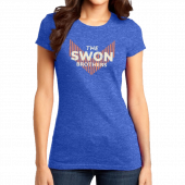 Swon Brothers Ladies Heather Royal Tee