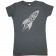 Josh Dorr Ladies Heather Charcoal Rocket Tee