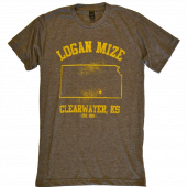 Logan Mize Heather Brown Tee